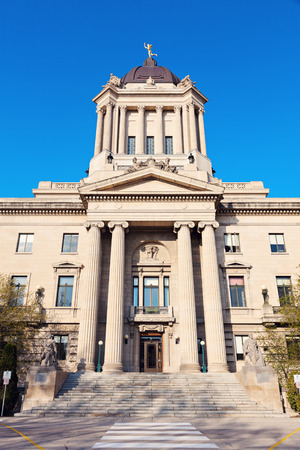 legislative: Manitoba Legislative Building in Winnipeg, Manitoba, Canada Stock Photo