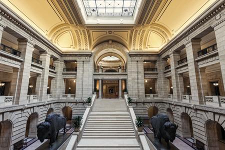 winnipeg: Inside Manitoba Legislative Building in Winnipeg, Canada