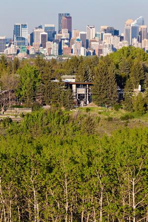 calgary: Distant view of Calgary. Calgary, Alberta, Canada