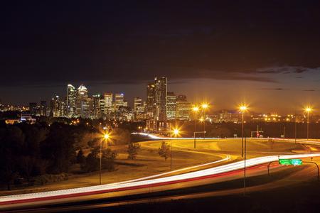 calgary: Distant panorama of Calgary. Calgary, Alberta, Canada