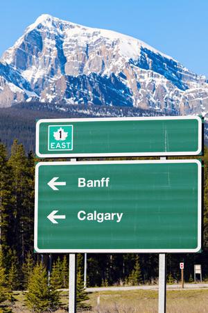 banff national park: Sign in Banff National Park. Alberta, Canada. Stock Photo