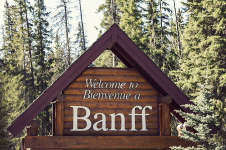 banff: Welcome to Banff National Park. Banff, Alberta, Canada