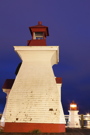 st  john: St John Lighthouses in St John, New Brunswick, Canada Stock Photo