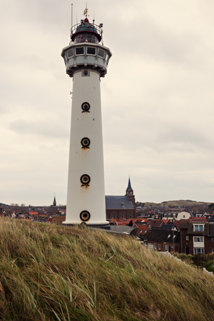 the netherlands: J.C.J. van Speijk Lighthouse. Bergen, North Holland, Netherlands.