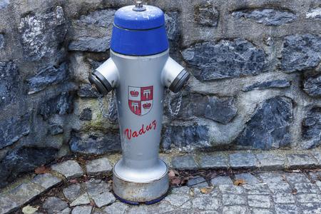 liechtenstein: Fire hydrant in Vaduz, Liechtenstein, Europe. Stock Photo