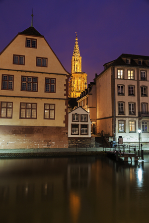strasbourg: Old Town architecture with Strasbourg Minster. Strasbourg, Alsace, France Stock Photo