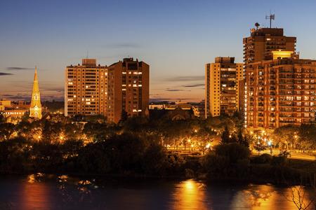 saskatchewan: Skyline of Saskatoon. Saskatoon, Saskatchewan, Canada