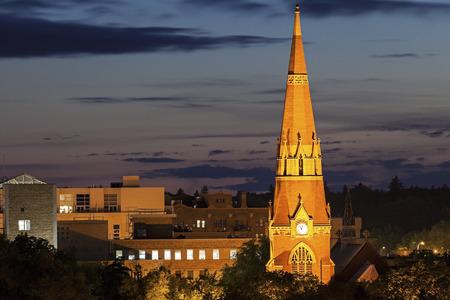 saskatchewan: Church in the center of Saskatoon. Saskatoon, Saskatchewan, Canada