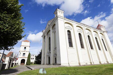 Morning by Evangelical church in KÄ—dainiai, Lithuania