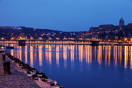 Shoes on the Danube Bank. Budapest, Hungary