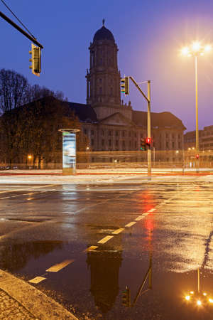 old town hall: Old town hall and street traffic. Berlin, Germany