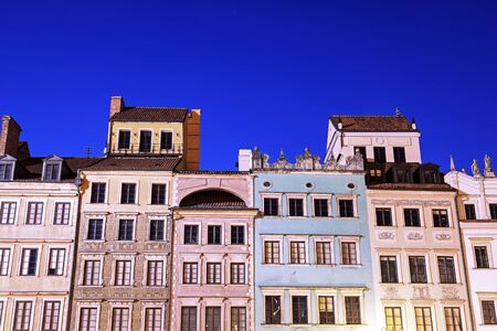 market place: Market Place evening time - Old town - Warsaw, Poland Stock Photo