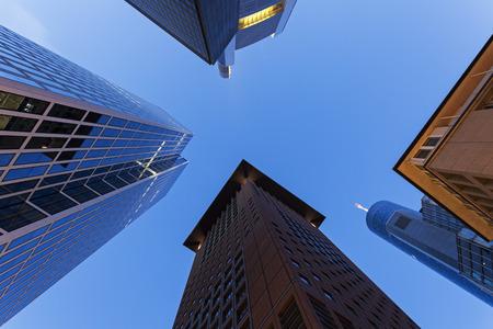 frankfurt: Modern architecture of downtown of Frankfurt. Frankfurt, Hesse, Germany