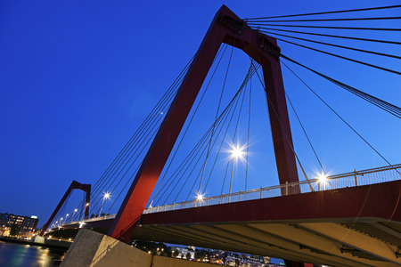 the netherlands: Williams bridge in Rotterdam, South Holland, Netherlands. Stock Photo