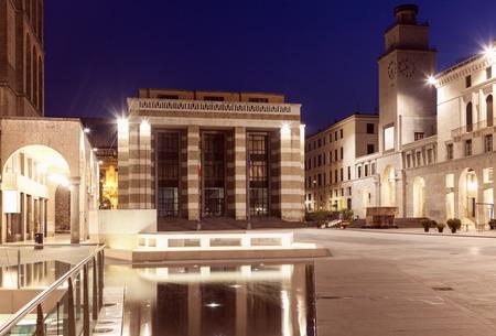 Piazza della Victoria in Brescia. Brescia, Lombardy, Italy