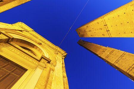 bologna: Asinelli Tower in Bologna. Bologna, Emilia-Romagna, Italy