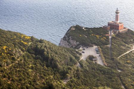 capri: Punta Carena Lighthouse. Capri, Campania, Italy Stock Photo
