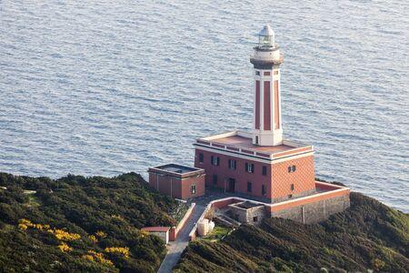 capri: Punta Carena Lighthouse on Capri Island. Capri, Campania, Italy Stock Photo