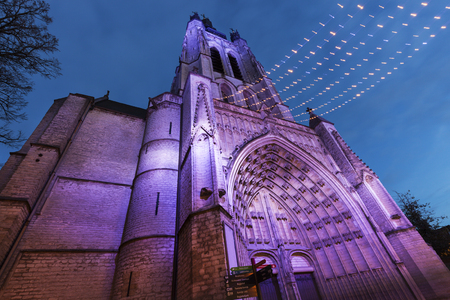 flemish region: St. Martins Church in Kortrijk. Kortrijk, Flemish Region, Belgium