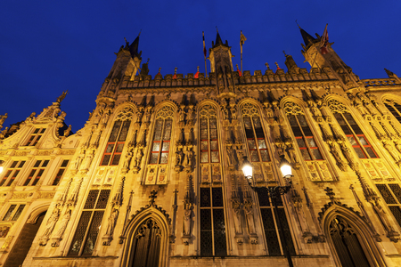 flemish region: Bruges City Hall on Burg Square. Bruges, Flemish Region, Belgium