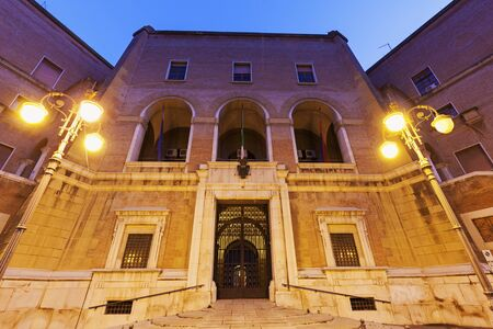 foggia: Architecture of Foggia before the sunrise. Foggia, Apulia, Italy Stock Photo