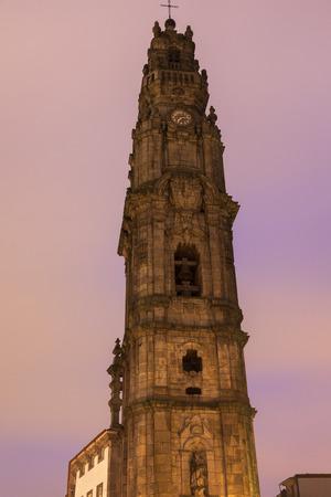 porto: Clerics tower in Porto. Porto, Norte, Portugal.