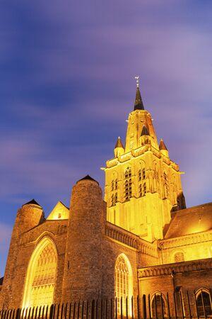 calais: Eglise Notre-Dame Cathedral in Calais. Calais, Nord-Pas-de-Calais-Picardy, France.