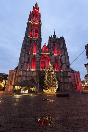 flemish region: Cathedral of Our Lady in Antwerp. Antwerp, Flemish Region, Belgium Stock Photo