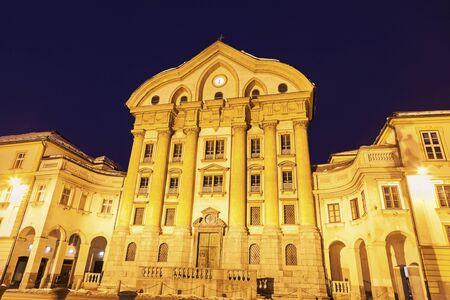 Ursuline Church of the Holy Trinity. Ljubljana, Slovenia