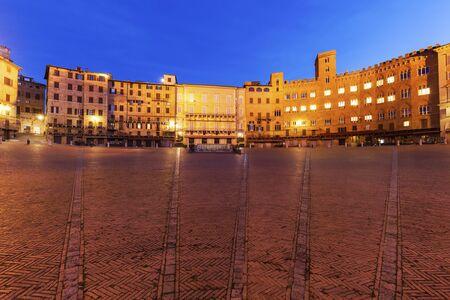 Piazza del Campo in Siena. Siena, Toscane, Italië Stockfoto