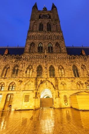 flemish region: Cloth Hall and Belfry in Ypres. Ypres, West Flanders, Flemish Region, Belgium