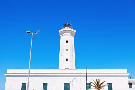 Lighthouse in San Cataldo. San Cataldo, Apulia, Italy