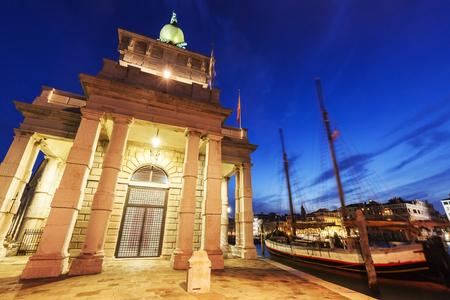 veneto: Punta della Dogana in Venice. Venice, Veneto, Italy Stock Photo