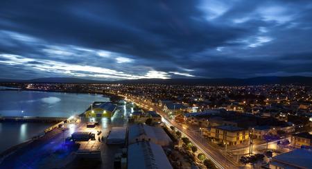 Punta Arenas at sunset. Punta Arenas, Chile