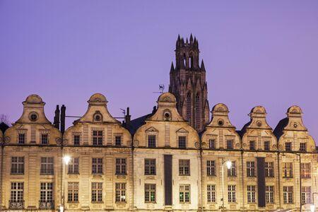 heros: Saint Jean-Baptiste Church in Arras seen from Place des Heros. Arras, Nord-Pas-de-Calais-Picardy, France.