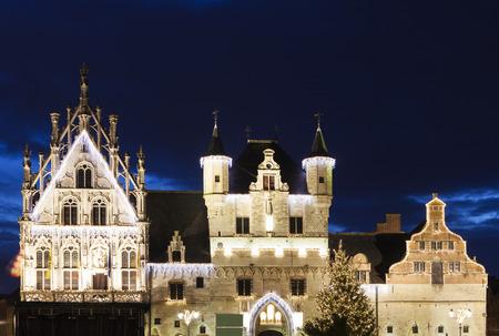 flemish region: Mechelen City Hall. Mechelen, Flemish Region, Belgium Stock Photo