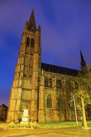 ypres: Saint Martins Church in Ypres. Ypres, West Flanders, Flemish Region, Belgium