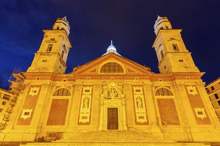 genoa: Santa Maria Church in Genoa. Genoa, Liguria, Italy, Stock Photo