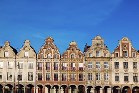 Architecture of Place des Heros in Arras. Arras, Nord-Pas-de-Calais-Picardy, France.