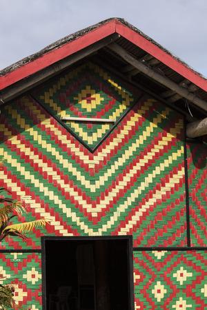 vanuatu: Colorful hut on Vanuatu. Port Vila, Vanuatu