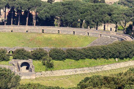 amphitheatre: Amphitheatre of Pompei. Pompei, Campania, Italy.