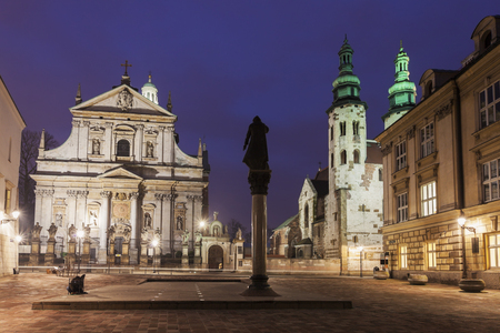 saints peter and paul: Church of Saints Apostles Peter and Paul and Saint Andrews Church. Krakow, Poland