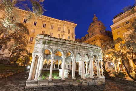 andrew: St Andrew cloister ruins. Genoa, Liguria, Italy.