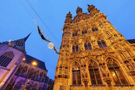flemish region: Leuven City Hall on Grote Markt. Leuven,  Flemish Region, Belgium