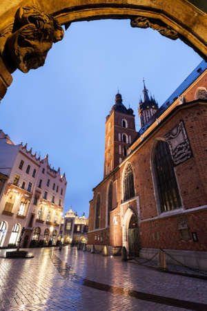 mary's: St. Marys Basilica in Krakow. Krakow, Poland.