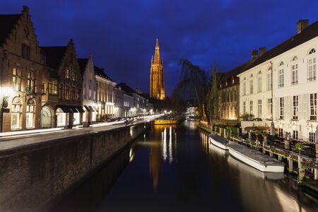 bruges: Church of Our Lady in Bruges. Bruges, Flemish Region, Belgium