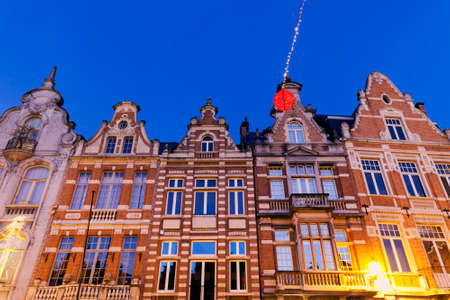 flemish region: Colorful houses on Grote Markt in Mechelen. Mechelen, Flemish Region, Belgium