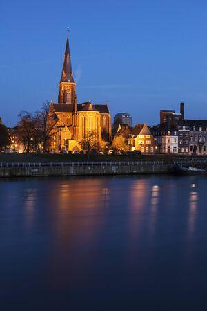 limburg: Sint Martinuskerk Church in Maastricht. Maastricht, Limburg, Netherlands.