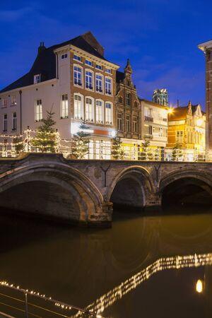 flemish region: Bridge on Dyle River in Mechelen Mechelen, Flemish Region, Belgium Stock Photo
