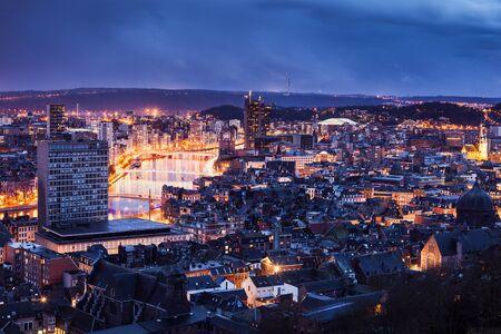 liege: Panorama of Liege. Liege, Wallonia, Belgium Stock Photo